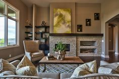Living room design ideas that show a range of possibilities, from modern to traditional.