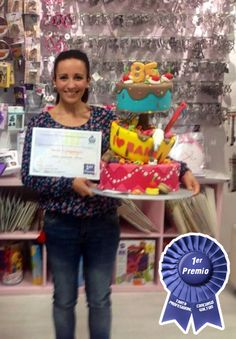 1er Premio Tarta Profesional. Final Local Concurso 85 Aniversario Wilton. MamaMuffins Shop.