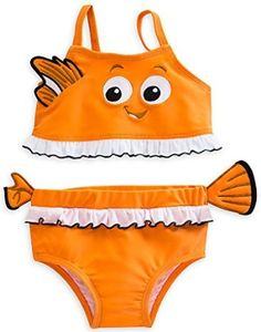 86a29ec7a7 Amazon.com: Disney Store Finding Nemo Costume Two-Piece Swimsuit for Baby: