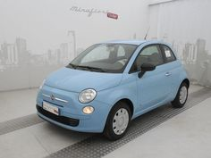 Fiat 500 69 CV Pop, color Azzurro Volare, or the vintage light green or cream My Dream Car, Dream Cars, Fiat 500 Lounge, Nissan Note, Fiat Abarth, Car Goals, City Car, Sweet Cars, Car Painting