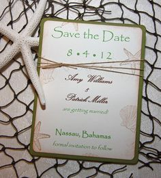 Rustic Beach Save the Date Cards  Wedding by TorisCustomCreations, $125.00
