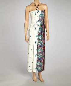 Look at this Magic White & Plum Paisley Halter Maxi Dress - Women & Plus on #zulily today!