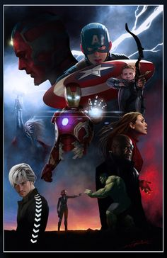 """We're happy to announce the winner of Marvel's """"Avengers: Age of Ultron"""" Fan Art Contest! Coming out on top is Scott """"Rahzzah"""" Wilson! For winning the contest, Scott has. Marvel Dc, Marvel Avengers Comics, Marvel Avengers Assemble, Avengers Quotes, Marvel Fan Art, Avengers Age, Marvel Heroes, Marvel Characters, Dc Comics"""