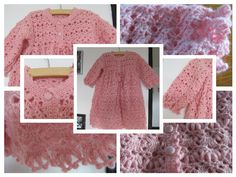 Beautiful Crochet Pink Baby Sweater with hat by MinnieCreation, €96.24
