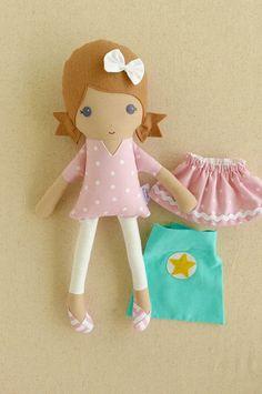 Muñeca tela muñeca trapo muñeca pequeña de 15 pulgadas chica