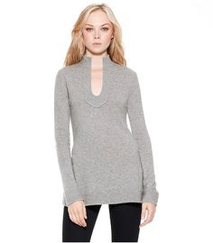 Tory Burch Cashmere. This, black skinny pants and tall boots? Perfect for fall.