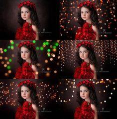 All the Colors of Christmas Bokeh Light Overlays, Christmas Photo Overlays, Bokeh Overlays