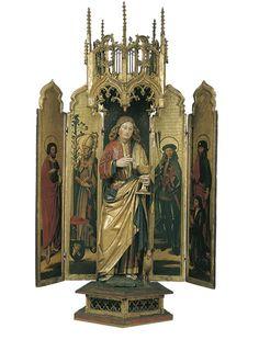 Políptic de sant Joan Evangelista (Països Baixos meridionals, ca. 1480-90, Museu Nacional d'Art de Catalunya, Barcelona)