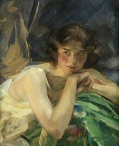 Sir James Jebusa Shannon (Anglo-American, 1862-1923) – Flora, 1922 (Oil on canvas. Glasgow Museums Resource Centre) - Shannon studied in London during the 1880s and remained there, enjoying success as a society portraitist and figure painter. (In 1922 he renounced his United States citizenship in order to accept a knighthood). - Németh György