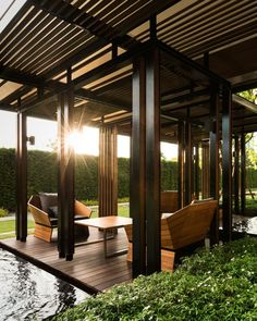 Pergola Kits With Canopy Gazebo Pergola, Pergola Shade, Patio Roof, Pergola Plans, Pergola Kits, Pergola Ideas, Outdoor Spaces, Outdoor Living, Bali