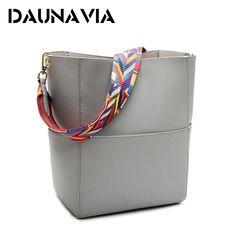 $21.64 - Cool DAUNAVIA Luxury Handbags Women Bag Designer Brand Famous Shoulder Bag Female Vintage Satchel Bag Pu Leather Gray Crossbody - Buy it Now!