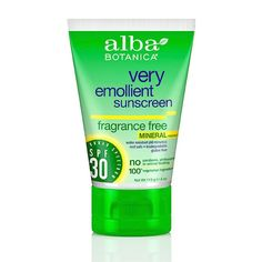 "Alba Botanica Mineral Sunscreen #6 on Rank and Style list of natural sunscreens and ""best"" on Paula"