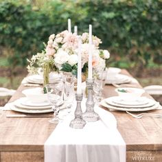 This stunning vineyard inspired #tablescape is equal parts elegant and rustic! We love it! | Photography By: Anna Grinets Photography | WedLuxe Magazine | #WedLuxe #Wedding #luxury #weddinginspiration #luxurywedding #tabledecor