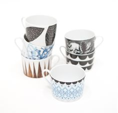 Designer/artist Elisabeth Dunker from blog and shop Fine Little Day collaborated with fellow Swedish designer Anna Backlund and created this delightful porcelain line for Rym, and it will be available at Fine Little Day shop in March. I don't know about the price point yet.