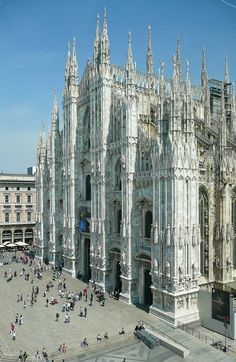Milão - Duomo - Linda Catedral, no topo tem-se uma vista espetacular......