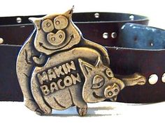 Vintage animal porn belt buckle  by MakeItMineFinds