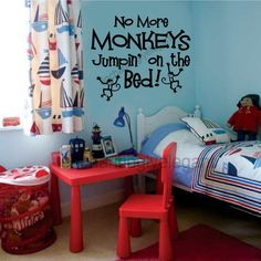 Cute Idea and theme for a boy....great idea for caleb's big boy room...my lil monkey!  one of his favorite stories!!