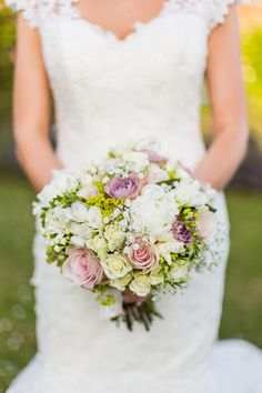 English country vintage wedding bouquet