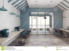 Office Interiors, Home Office, Stock Photos, City, Modern, Inspiration, Furniture, Image, Home Decor