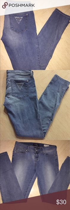 Guess Jeans Guess Skinny Jeans In Excellent Condition. Has OG Guess Triangle Symbol On Right Back Pocket. Stretchy, Lightweight Material. Any Questions Please Ask! Thanks For Browsing & Happy Poshing!! Guess Jeans Skinny