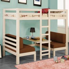 Converts from sitting area to bunk bed. Converts from sitting area to bunk bed. Girls Bunk Beds, Kid Beds, Awesome Bedrooms, Cool Rooms, Small Rooms, Small Space, Girl Room, Girls Bedroom, Bedroom Ideas