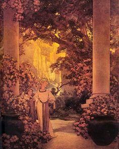 Posted by ix_imagine_this : ARTIST OF THE WEEK - MAXFIELD PARRISH (part II)  Maxfield Parrish (1870-1966)  Land of Make Believe (1912) #artistoftheweek #maxfieldparrish #ix_imagine_this #ix #imaginativearts #illuxcon