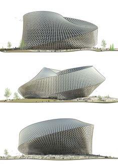La future Bibliothèque Nationale du Kazakhstan véritable tourbillon architectural