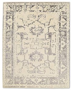 Arte Rug - Ivory/Charcoal Hand Knotted Rugs, Hand Weaving, Sheltered Housing, Wall Art For Sale, Hand Spinning, Light Decorations, Vintage World Maps, Throw Pillows, Abstract