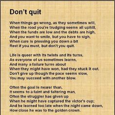 Don't quit before the Blessing!