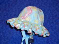 Baby Sunhat Blue by AdorableandCute on Etsy, $24.00