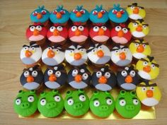 angry birds cupcakes :)
