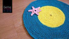 Mi nueva alfombra circular de trapillo. #trapillo #alfombra #ganchillo #crochet #diy #creatividad #manualidadescontrapillo #baño