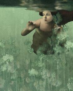 Fades to green- Daria Petrilli Daria Petrilli, Illustrations, Illustration Art, Surrealism Painting, Italian Artist, Surreal Art, Savage, Mona Lisa, Instagram