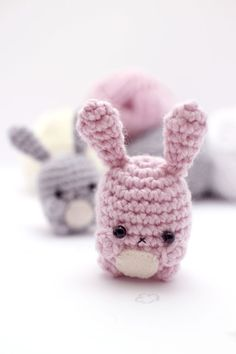 Use one simple amigurumi pattern to crochet an assortment of amigurumi bunnies.  This digital crochet pattern includes written instructions for making