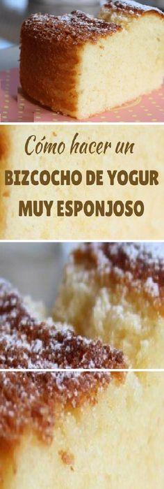 Cocina – Recetas y Consejos Sweets Cake, Cupcake Cakes, Cupcakes, Cake Recipes, Dessert Recipes, Desserts, Yogurt Cake, Number Cakes, Pan Dulce