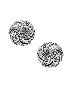 Dot Silver Knot Earrings By John Hardy At Gilt Jewelry Sterling