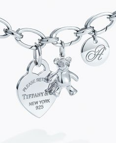 Tiffany OFF! Give her the gift of meaningful memories with a sterling silver charm bracelet you can add to year after year. I Love Jewelry, Charm Jewelry, Boho Jewelry, Jewelry Shop, Silver Jewellery, Jewelry Trends, Jewelry Ideas, Jewelry Making, Unique Jewelry