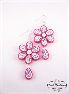 "• Sweet Handmade •: Quilling Earrings - ""Spring Flowers"" Collection"