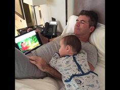 Simon Cowell may have finally met his match: a dirty diaper. Although the first-time father welcomed son Eric Philip on Valentine's Day… Simon Cowell Son, Britain Got Talent, All Covers, Love Film, 80s Music, Everything Baby, Mother And Father, Baby Sleep, Kids And Parenting