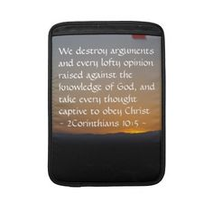 2Corinthians 10:5 MacBook Air Sleeve by Scripture Classics #gift #zazzle #photogift #bible #Christian
