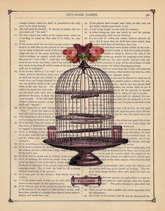 Print a picture on an old book page. Neat idea. How about a dictionary page with a related picture printed on it?