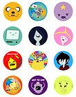 ADVENTURE TIME MIXED CUPCAKE TOPPERS X 12 EDIBLE ICING PARTY DECORATION IMAGE on eBay for $12.99