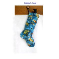 Turtle Christmas Stocking  Handmade Sea Life by IceboxsYard