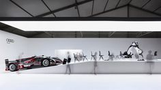 At Design Miami Audi has presented the Ultra Chair, a lightweight chair designed by Clemens Weisshaar and Reed Kram in cooperation with Audi engineers. Aluminum Sheet Metal, Audi Motorsport, Floating Chair, Audi R18, Temporary Architecture, Milan Furniture, Temporary Structures, Car Brands, Innovation Design