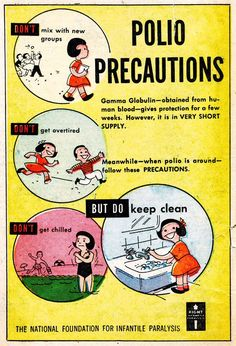 Polio PSA, So, basically, don't be a kid. Retro Ads, Vintage Advertisements, Vintage Ads, Vintage Posters, Vintage Medical, Retro Posters, Vintage Style, Stroke Association, Hope For The Future