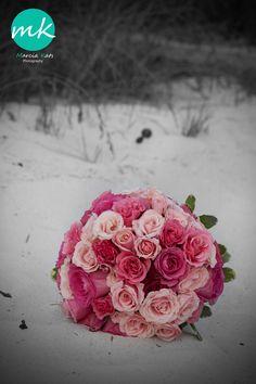 Flowers Beach Wedding Photo Shoot