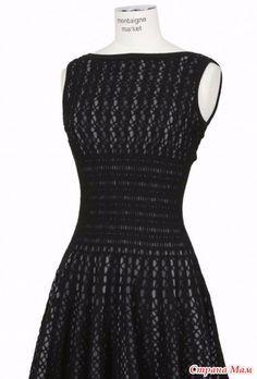 Нашла недавно интересное платье крючком, не знаю, может оно уже и было, но я не нашла. Решила показать, вдруг кому-нибудь пригодится