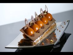 By Guillaume Girard Mini Desserts, Small Desserts, Gourmet Desserts, Plated Desserts, Just Desserts, Gourmet Recipes, Sweet Recipes, Delicious Desserts, Cake Recipes