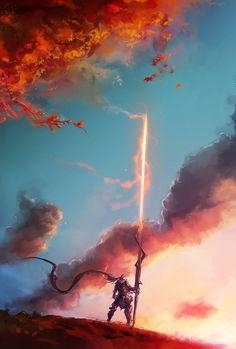 Autumn Lancer, Aaron Nakahara on ArtStation at https://www.artstation.com/artwork/autumn-lancer