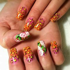 Grant Gel Nails Animal Print And One Stroke Paint